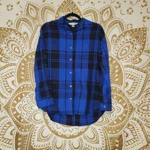 Royal blue, long sleeve button up
